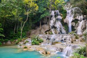 Kuangsi Waterfall in Luang Prabang, Laos photo