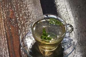 Green mint tea photo