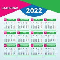 2022 calendar with beautiful geometrical design vector