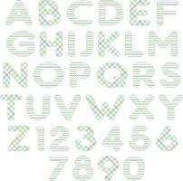 pastel blue green patterns alphabet vector