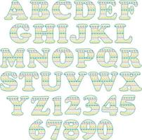 embroidery stitch patterns alphabet vector