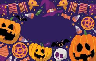 Trick Or Treat Halloween Festival Doodle Background vector