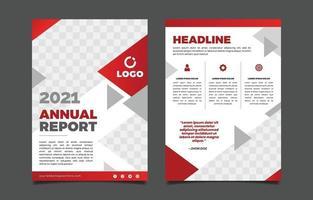 Triangle Annual Report Template vector