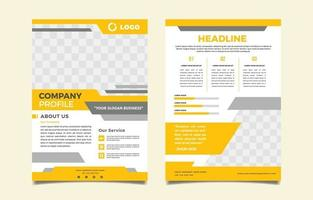 Modern Company Profile Template vector