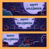 Set of Halloween Banner Collection vector