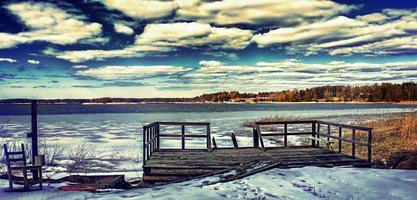 costa finlandesa en invierno foto