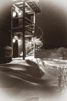 la noche nevada foto