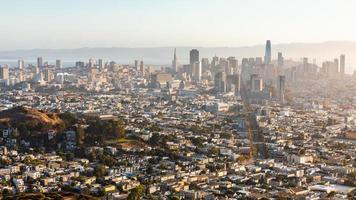 Vista aérea de la ciudad de San Francisco, California, Estados Unidos. foto