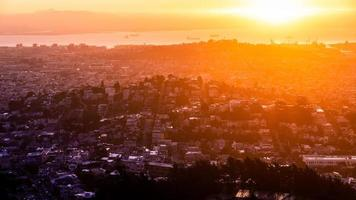 Aerial view over city of San Francisco, California, USA. photo
