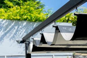 Retractable awning for outdoor interior design photo