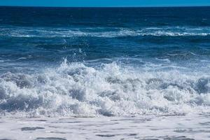 Beautiful wave on the background of the seascape. photo