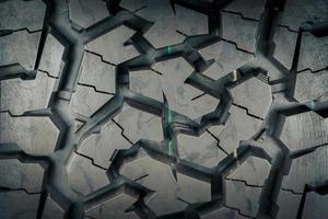 primer plano de los patrones y texturas de los neumáticos todo terreno. foto
