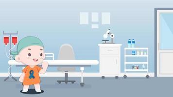 Cartoon Background - Cancer Awareness Survivor Kid video