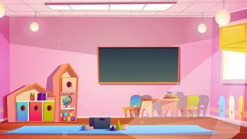 fundo de desenho animado - sala de jogos em sala de aula video