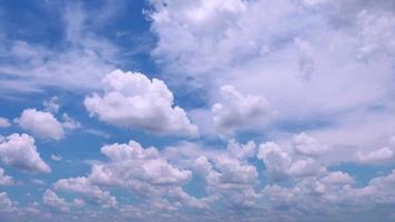 ciel bleu nuages blancs video