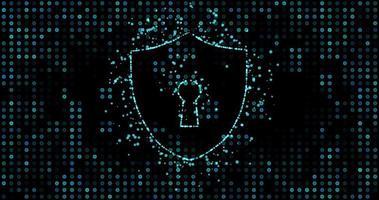 sicurezza informatica della protezione della rete di dati digitali video