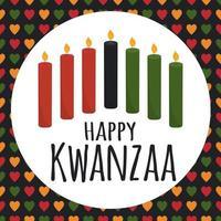 Kwanzaa - African American heritage holiday.  greeting card vector