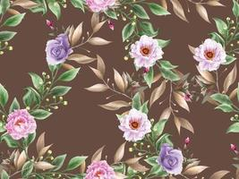 beautiful floral watercolor seamless pattern vector