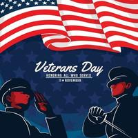 Veterans Day Honor All Who Served vector