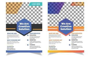 Corporate flyer, poster, brochure template. vector