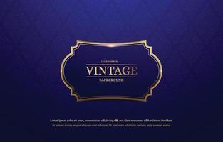 Seamless Floral Vintage Wallpaper Pattern with Vintage Frame vector