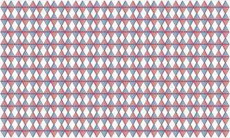 Seamless pattern combining four blue and orange triangle strokes vector