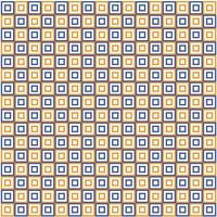 seamless pattern double layer square shape orange and blue color vector