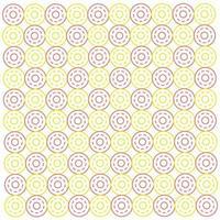 Seamless pattern of three layer circle vector