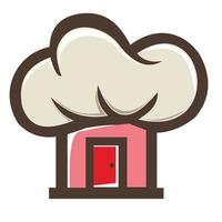 House and Chef Hat Combination Logo vector