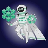 Zero Waste Robot Mascot vector