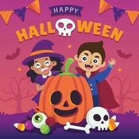 feliz celebración de halloween vector