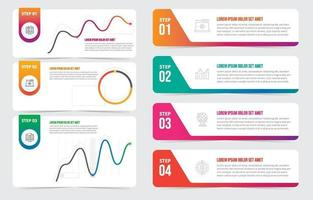 Step by Step Infographic Visual Data Mockup Template vector