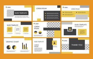 Minimalist Presentation Template vector