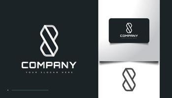 diseño de logotipo número ocho con concepto abstracto y geométrico vector