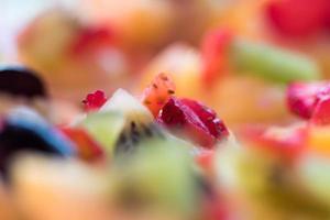 Colorful fruit as decoration on fruit tart photo