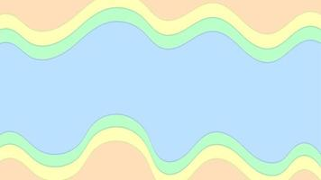 Pastel colour shape abstract background with blue green yellow vector
