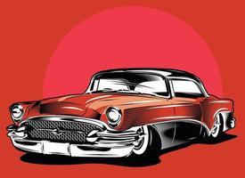 vintage calssic car vector