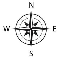 Compass icon vector on white background.10Eps