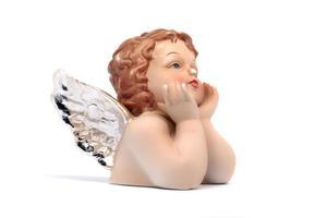 Christmas angel. Ceramic angel or putty. photo