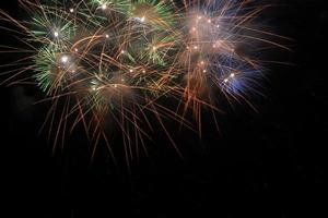 Colorful fireworks that welcome the new year photo