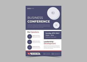 Seminar conference flyer template vector