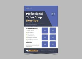 Tailor service flyer design template. vector