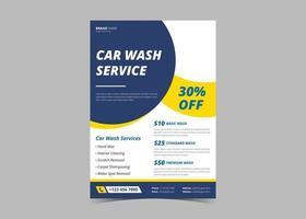 Car wash flyer design template vector