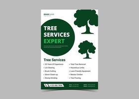 Tree service flyer design template vector
