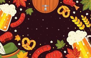 Octoberfest Beer Day Background vector
