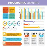 Infographic Elements Colorful Chart Set vector