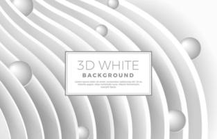 3D White Background vector