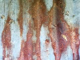 Background and wallpaper of zinc, Rust paint pattern on zinc. photo