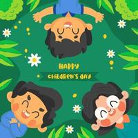 Children's With Happy Expression vector