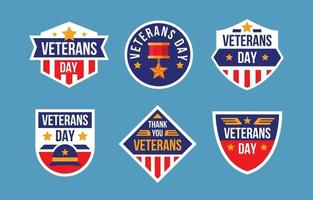 USA vetereans day stickers vector